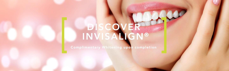 Homepage slide Invisalign, complimentary whitening